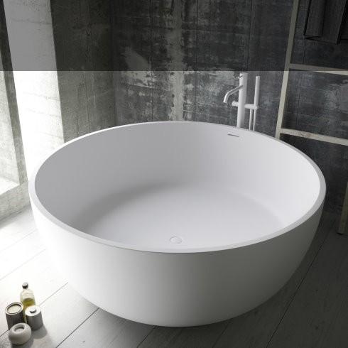 Badewanne Aral   Solidstone   weiß   150x150x56cm