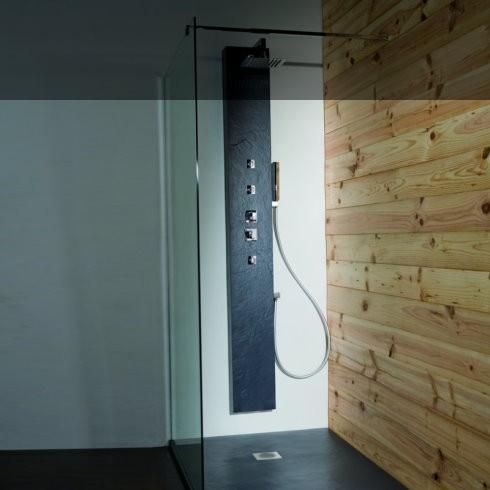 Duschpaneel Natural Pizarra | Solidstone | 200cm hoch