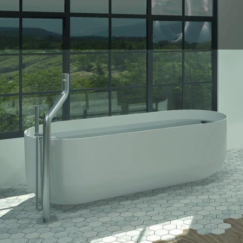 Badewanne Flow   DADOquartz   weiß   178x80cm