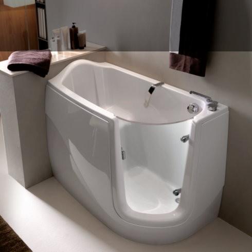gruppo treesse sitzbadewanne gen x mit t r design paolo parea 130 x 75 v3311. Black Bedroom Furniture Sets. Home Design Ideas