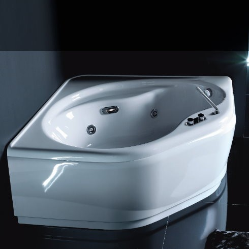 Eckbadewanne Aurora | optionales Whirlpoolsystem | optionaler Schwalleinlauf