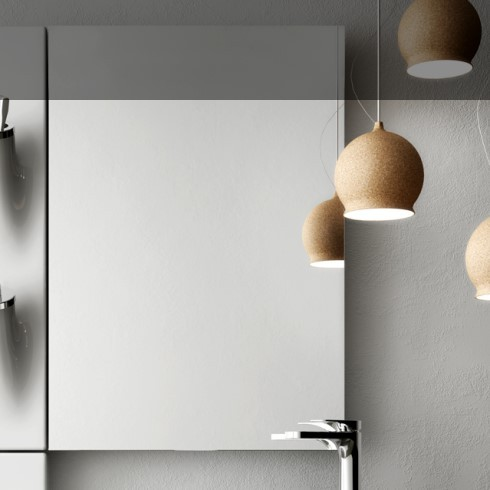Wandspiegel Square 60x86cm | mit Accessoir-Säule Sopra
