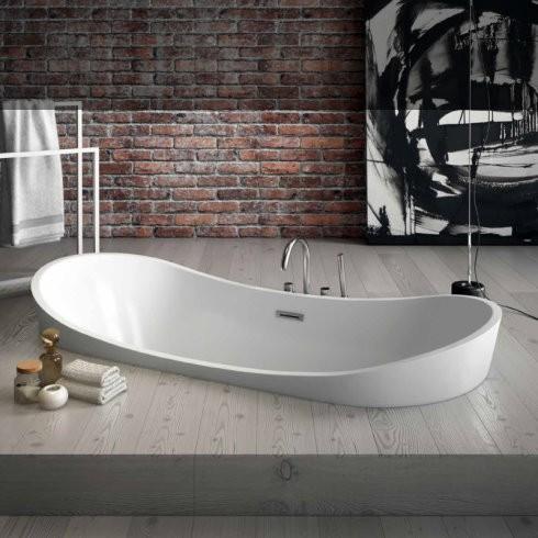 Banos10 | ovale Badewanne Drop mit Wannenrandarmatur