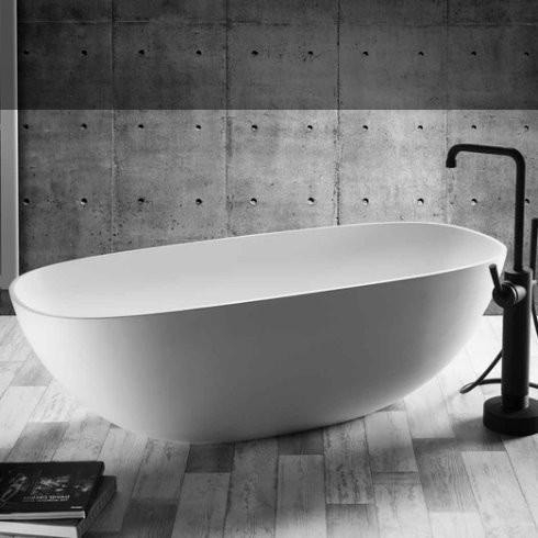 Badewanne Amsterdam | DADOquartz | weiß | 171x76cm