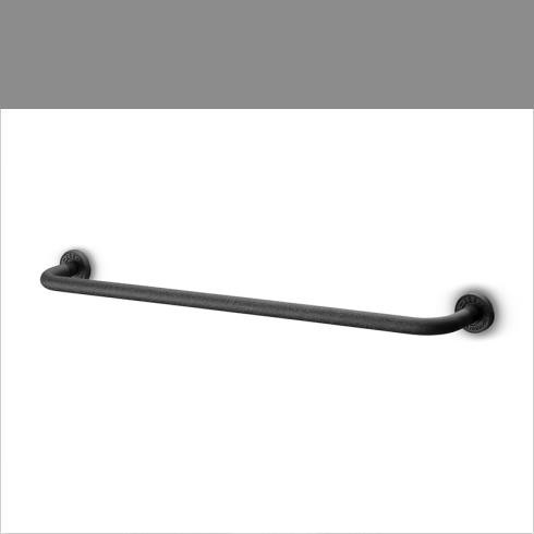 JEE-O | Handtuchstange 60cm Soho | Hammerschlagbeschichtung | schwarz matt