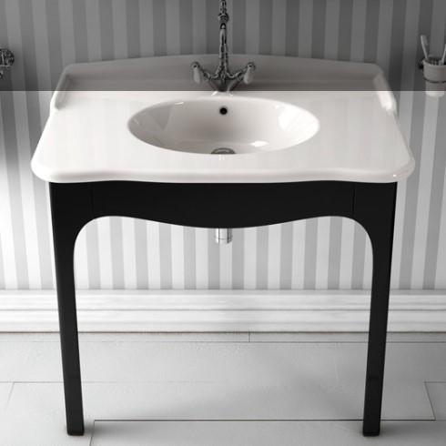 Hidra | Ellade | klassische Waschtischkonsole mit Holz-Untergestell