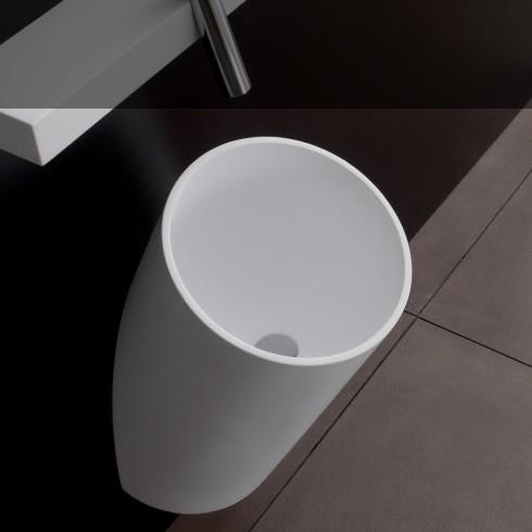 reemme wandhängender Waschtisch Blok | weiß