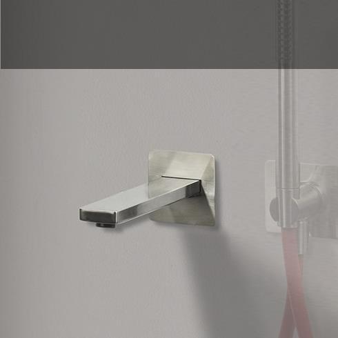 Ritmonio | Badewannen- oder Waschtisch-Wasserauslauf Haptic | Nickel gebürstet