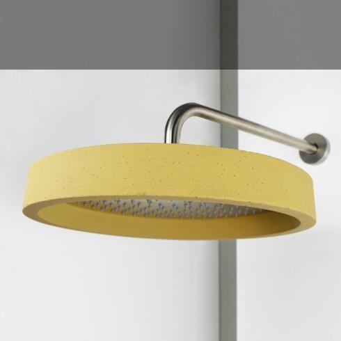 Kopfbrause Haptic | Stahl gebürstet | Beton