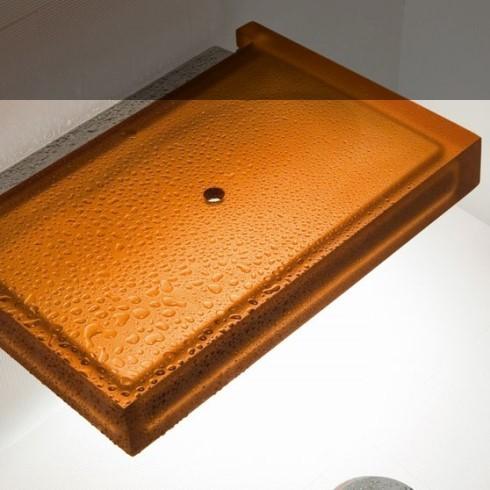 Hamam-Klappsitz | Kunstharz bernsteinfarben