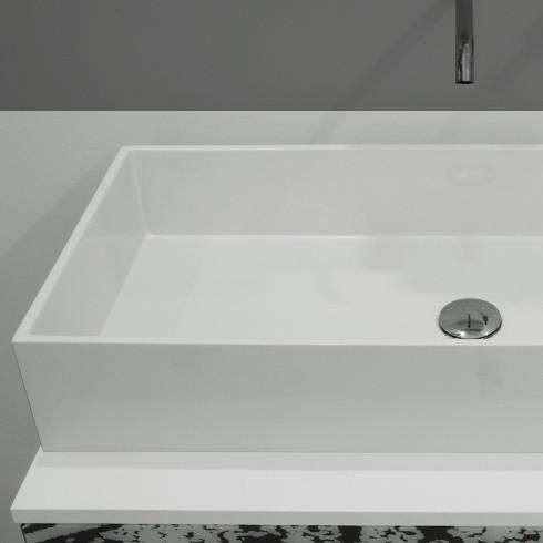 Waschbecken eckig ohne hahnloch  GSG Ceramic Design | Waschschale Box 80 cm | aus Crystaltech ...