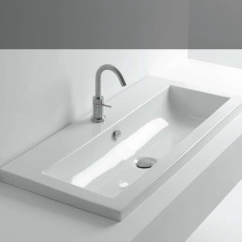 whitestone einbauwaschbecken tube in 60cm oder 96cm. Black Bedroom Furniture Sets. Home Design Ideas