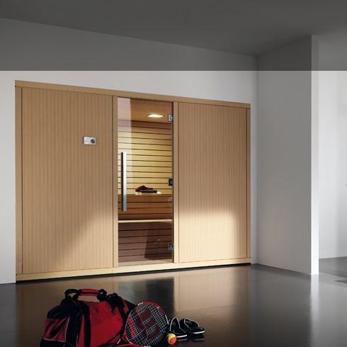 Bäderdesign  Effegibi | Finnische Sauna | Komplettsauna | Serie Gym| Design ...