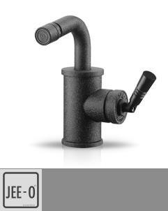 JEE-O | Bidetarmatur Soho | Hammerschlag schwarz matt | Grand & Johnson
