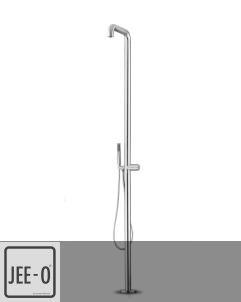 JEE-O | Standdusche Flow | Edelstahl gebürstet | Brian Sironi