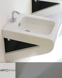 Art Ceram Wandbidet undf WC Serie La Fontana | weiß/schwarz