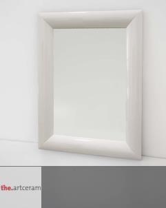 Wandspiegel Vela | 90x70 | weiß lackiert