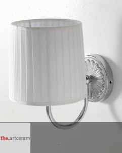 Art Ceram | Wandlampe Versailles | weiß/chrom