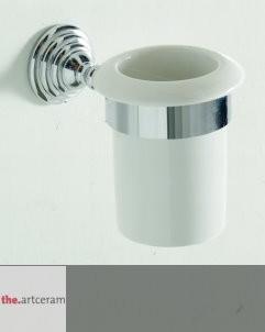 Becherhalter Victoria | Keramik weiß / chrom