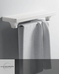Handtuchstange mit Ablagebord aus Keramik | 42cm
