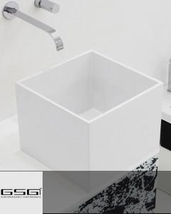 Waschtischschale Box   weiß glänzend