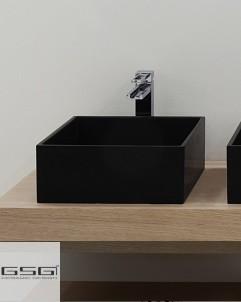 Aufsatzwaschbecken Box   33 x 35   schwarz
