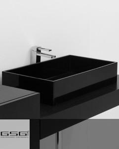 Waschtischschale Box   60 x 35,5   schwarz