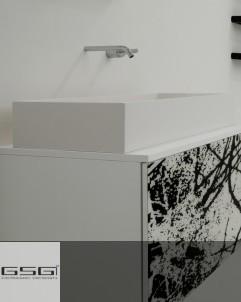 Waschtischschale Box   80 x 35,5   weiß