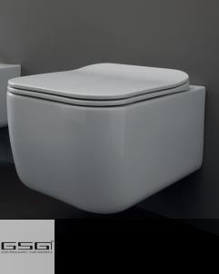 GSG | Wand WC | Serie Brio | Soft Close WC-Sitz Slim Quick Release