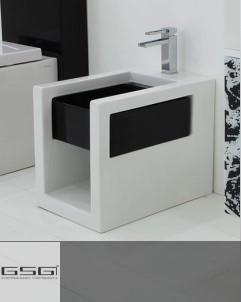 Standbidet Box | weiß / schwarz