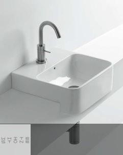 Waschbecken Normal | Halbeinbauwaschtisch | 45cm