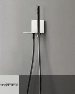 Treemme | Handbrauseset | Serie 5mm | edelstahl gebürstet