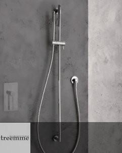 Brausestangen-Set | 6529 | chrom | mit Wandbogen