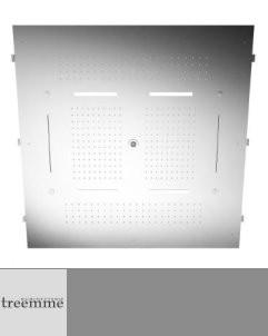 Regenbrause mit Wasserfall und Nebeldüsen und LED-Licht | 95x95 cm | verschiedene Oberflächen