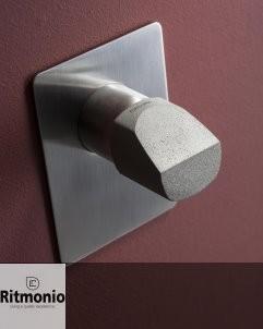 Unterputzmischer Haptic | nickel gebürstet | Griff aus Beton (Variante)