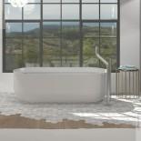 Badewanne Flow   DADOquartz   weiß   178x80cm   Ambiente Flow