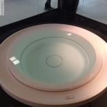 Runder Skimmer-Whirlpool Fusion 200 | Gruppo Treesse | Überlaufbadewanne mit Ghost System | Präsentation Cersaie