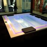 Badepool Zen | 280x235 | mit Ghost-System und Beleuchtung | Präsentation Cersaie