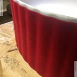 Art Ceram | Aufsatzwaschschale Millerighe | weiß / Samt rot