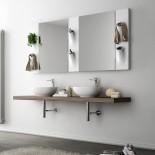 Wandspiegel Square 60x86cm | mit Accessoir-Säulen Sopra