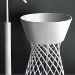 Hidra | freistehender Waschtisch Wire | weiß lackiert