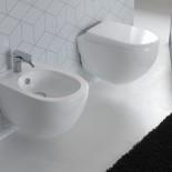 Wand-WC und Bidet Serie ABC | Soft Close Sitz