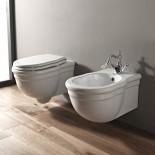 Hidra | klassisches Wand-WC Ellade | Wand Bidet | weiß