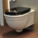 Hidra | klassisches Wand-WC Ellade | weiß | WC-Sitz schwarz