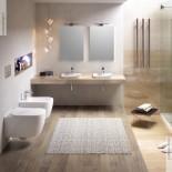 Wand-WC und Bidet Serie Faster Rimless | Soft Close Sitz | Ausführung weiß | spülrandlos | Ambiente Gio