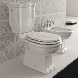Ellade Stand-WC mit Bodenabgang | mit Aufsatzspülkasten | Druckbetätigung