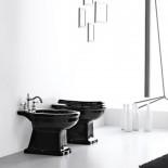 Ellade Stand-WC und Bidet | schwarz (ohne Spülkasten)