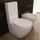 Hidra   Spülkasten-Stand-WC Dial und Stand-Bidet   weiß