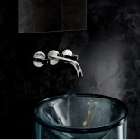 Wandarmatur Venezia | silber | Griffe: Muranoglas schwarz