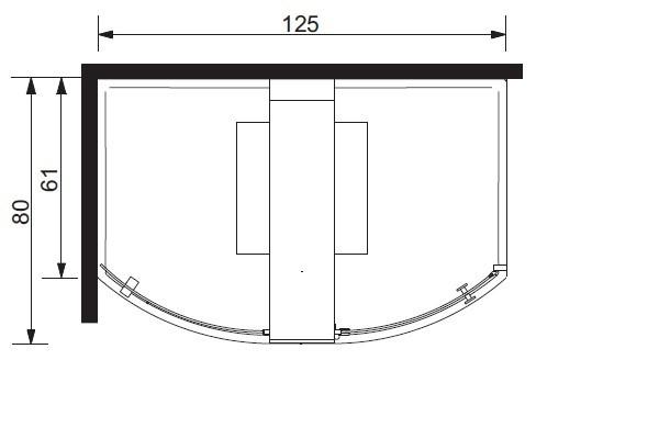 Dusche Offen Oder Geschlossen : Komplettdusche Elle 80x125cm Eckmontage – Walk in 1 Seite offen